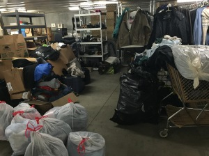 WPIG volunteer event at YouthCare's Clothes Closet: the BEFORE picture! (March 2015)