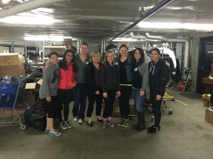 WPIG members sort clothes at YouthCare's Clothes Closet for homeless youth (March 2015).